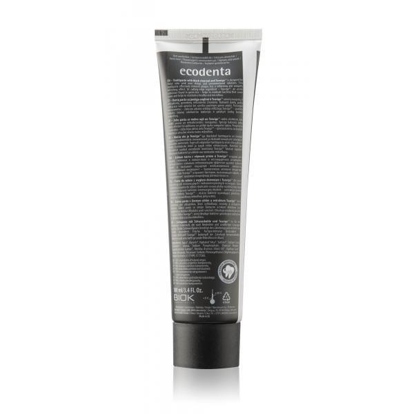 ECODENTA EXTRA Black fogfehérítő fogkrém fekete szénnel és Teavigo™-val 100ml