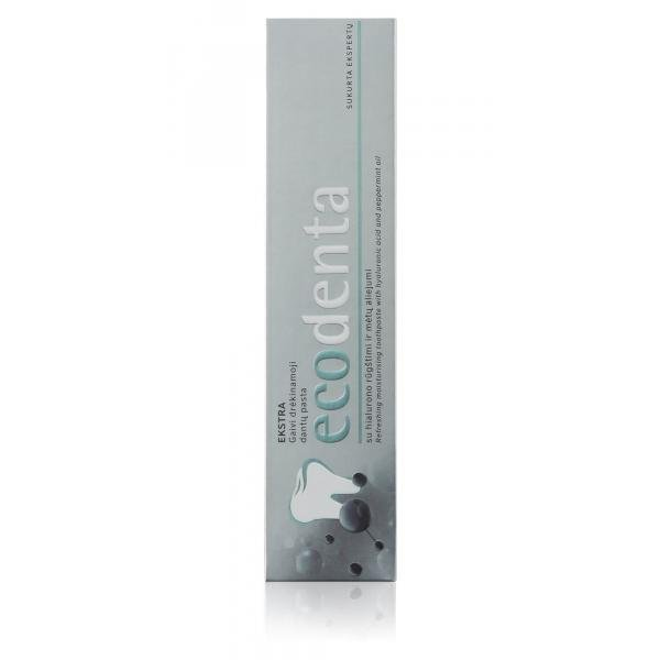 ECODENTA EXTRA Refreshing moisturising toothpaste with hyaluronic acid and peppermint oil 100 ml