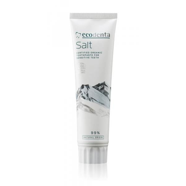 ECODENTA COSMOS Organic toothpaste for sensitive teeth and gums with natural salt and potassium citrate 100 ml
