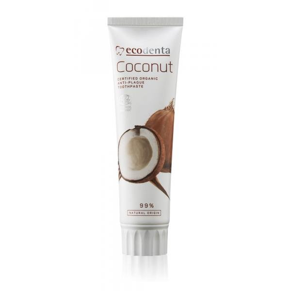 ECODENTA COSMOS organikus lepedékgátló fogkrém kókuszolajjal és cink sóval 100ml