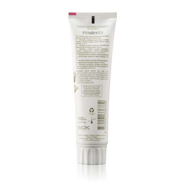 ECODENTA COSMOS Organic anti-plaque toothpaste with coconut oil and zinc salt 100 ml