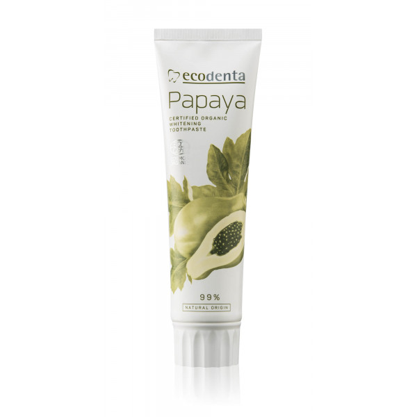 ECODENTA COSMOS Organic whitening toothpaste with papaya extract 100 ml