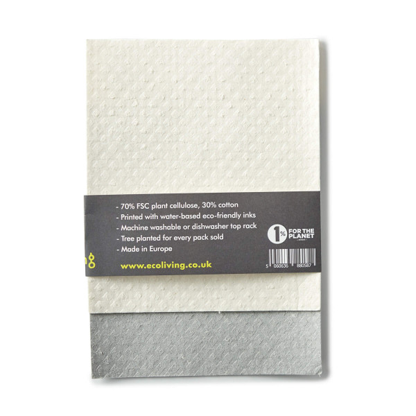 Compostable Sponge Cleaning Cloths 2pack