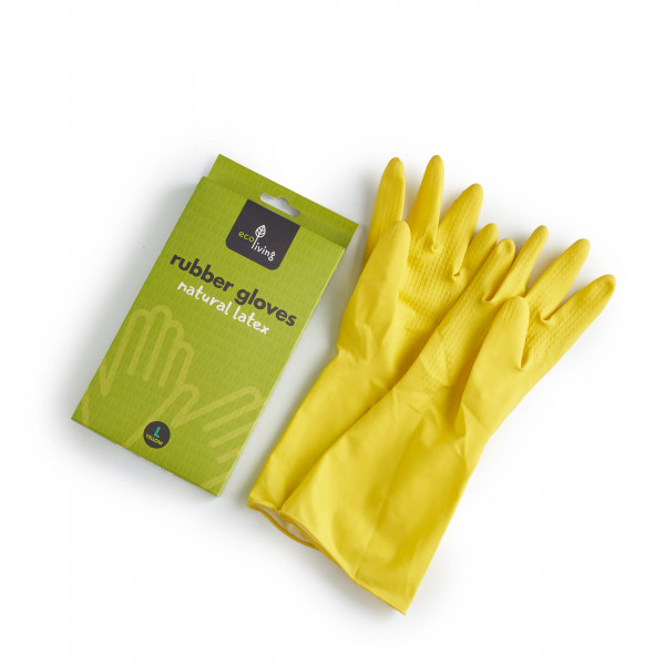 Natural Latex Rubber Gloves size L