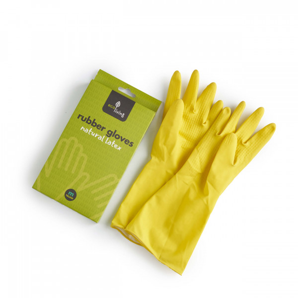Natural Latex Rubber Gloves size M