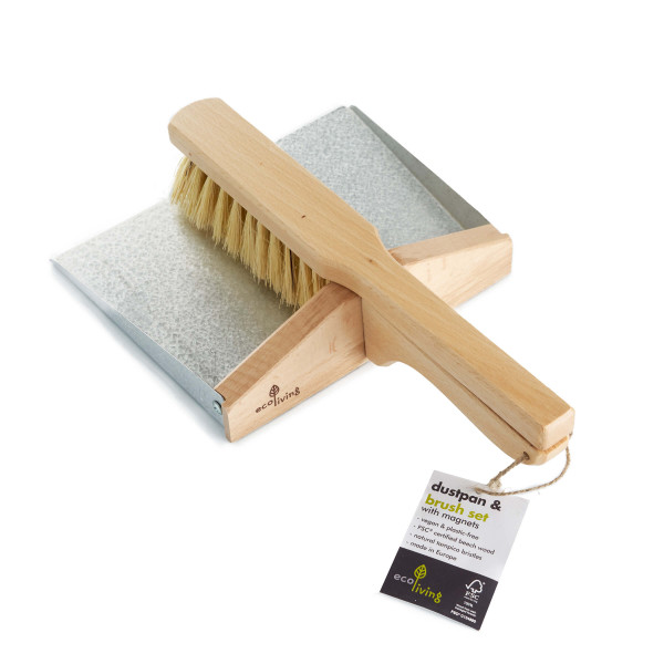 Dustpan and Brush Set with Magnets (100% FSC)