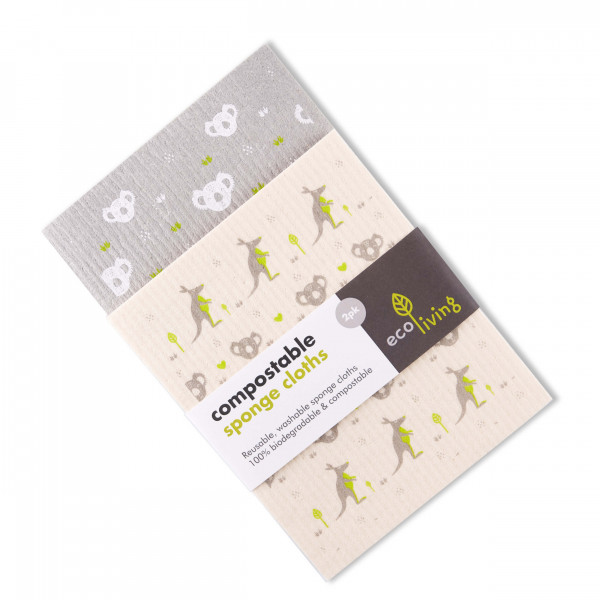 Compostable Sponge Cleaning Cloths - Wildlife Resc...