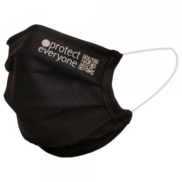 Organic Cotton 3 Layer Face Mask black