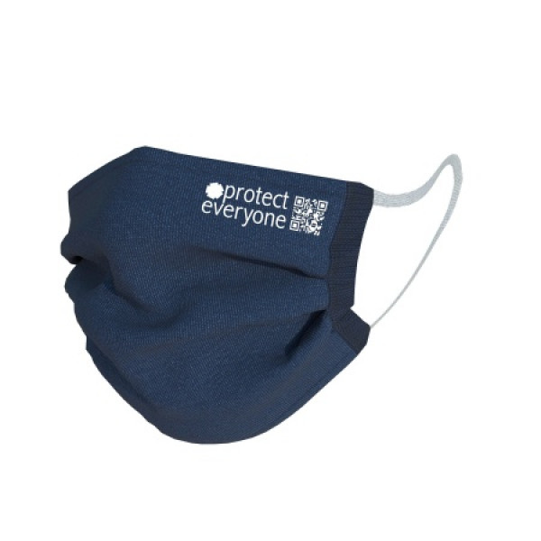 Organic Cotton 3 Layer Face Mask Navy