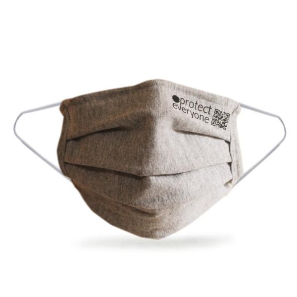 Organic Cotton 3 Layer Face Mask grey
