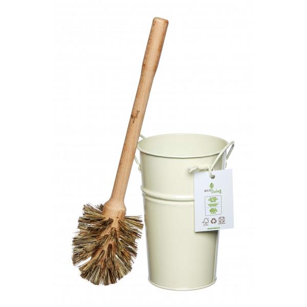 Plastic Free Toilet Brush and Holder Set - Large B...