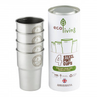 British Stainless Steel Cup - UK Pint 4 pack