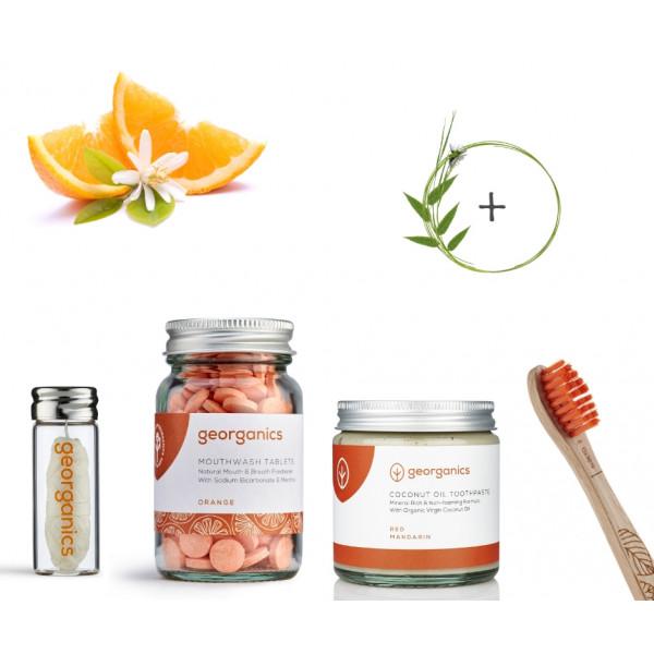 Narancsos szájápolási csomag ajándék bükkfa ...
