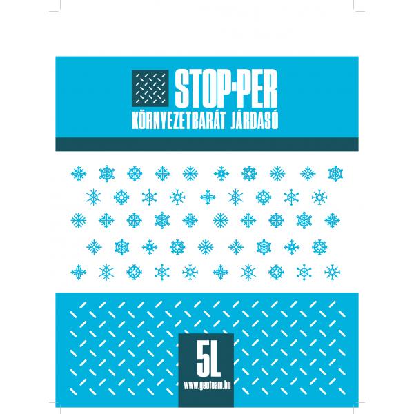 Stop-Per környezetbarát csúszásgátló járdasó - perlit 5l