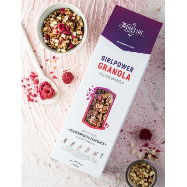 Girlpower granola - granola with raspberry 400 g - gluten-free