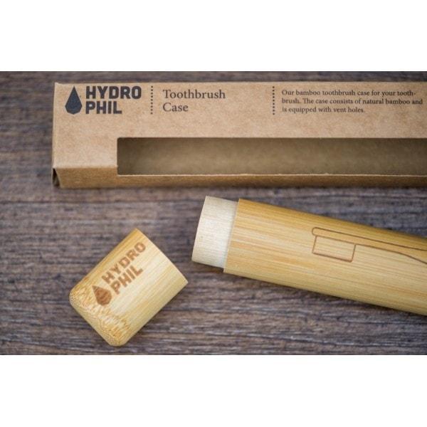 Bambusz fogkefe tartó tok