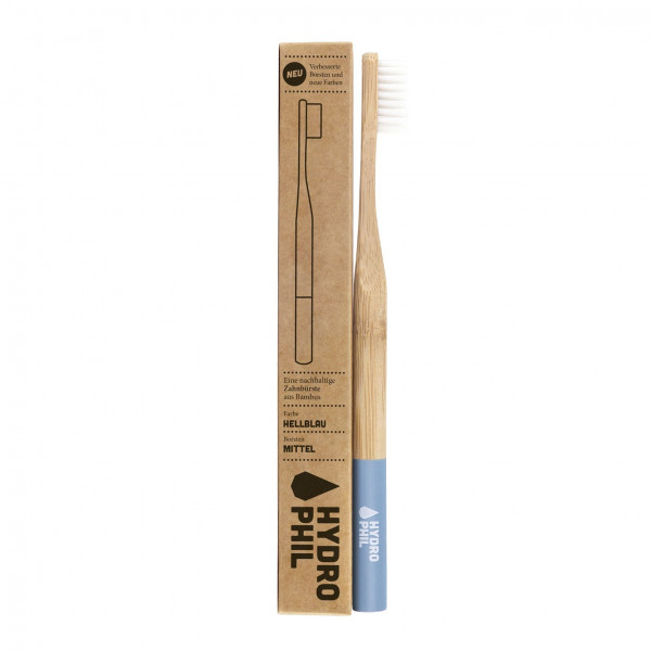 Sustainable toothbrush - light blue medium 1pc