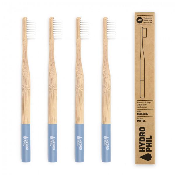 Sustainable toothbrush - light blue medium 1pc