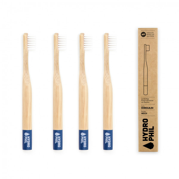 Sustainable toothbrush for kids - blue extra soft 1pc