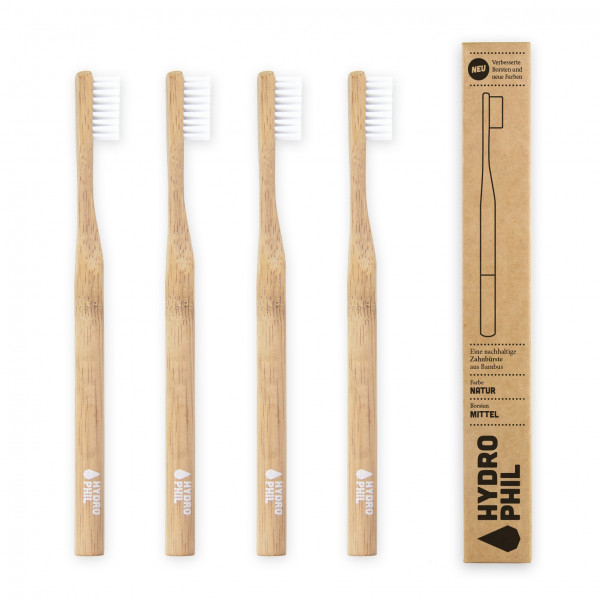 Sustainable toothbrush - natural medium 1pc