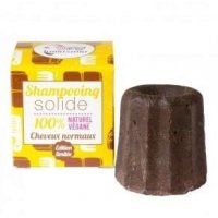 Solid shampoo with chocolate for normal hair