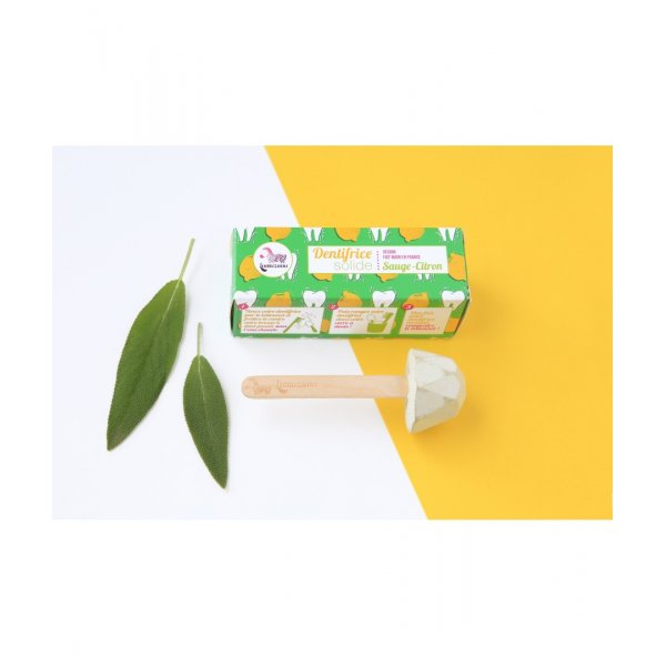 Lemon & sage solid toothpaste