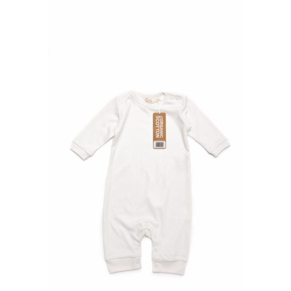Long sleeve baby playsuit organic cotton