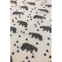 Organic Muslin Burp Cloth bear