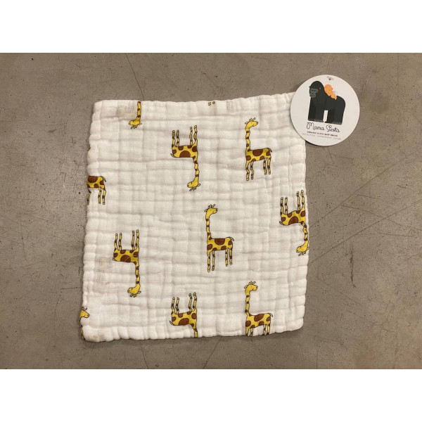 Organic Muslin Burp Cloth giraffe