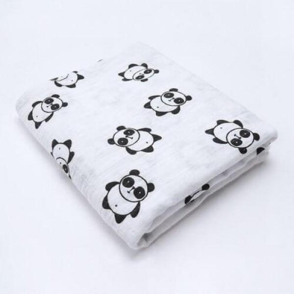 Mama Siesta organikus muszlin takaró, panda