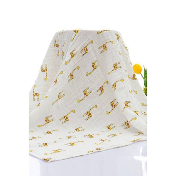 Mama Siesta organikus muszlin takaró, zsiráf