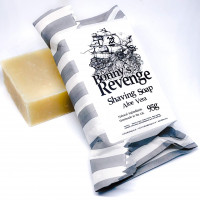 Shaving and face cleaning soap with aloe vera