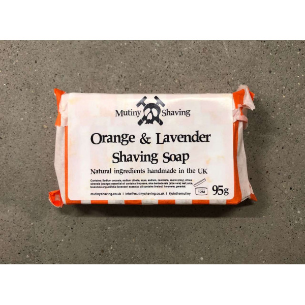 Face cleaning and shaving soap with Orange and Lav...