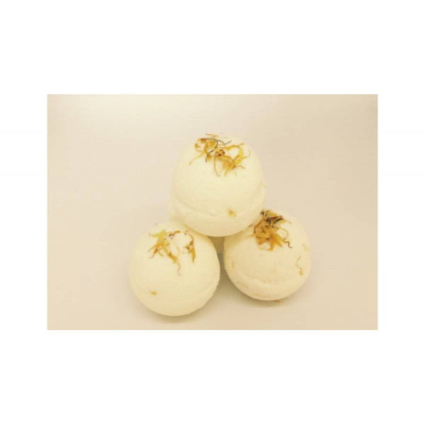 Calendula bath bomb with goat milk