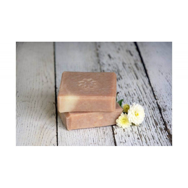 Natural soap with coconut milk and vanilla