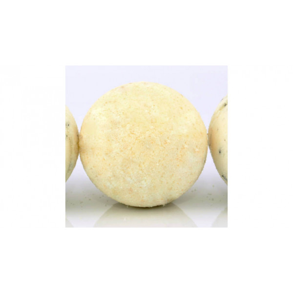 Orange bath bomb with shea butter