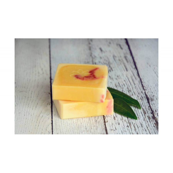 Natural soap with orange