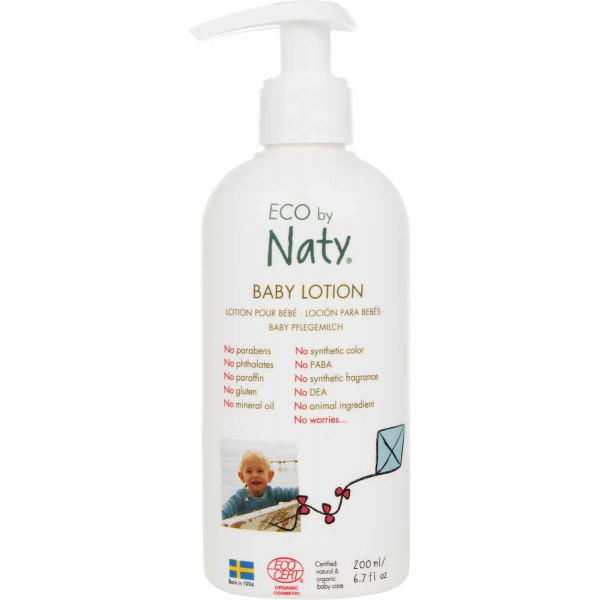 Naty Baby Lotion with organic aloe 200ml