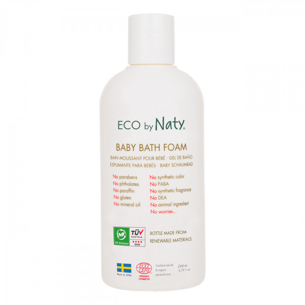 Naty Baby Bath Foam with organic aloe, 200 ml