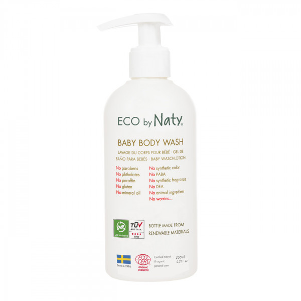 Eco by Naty Baby Body Wash with organic aloe  200m...