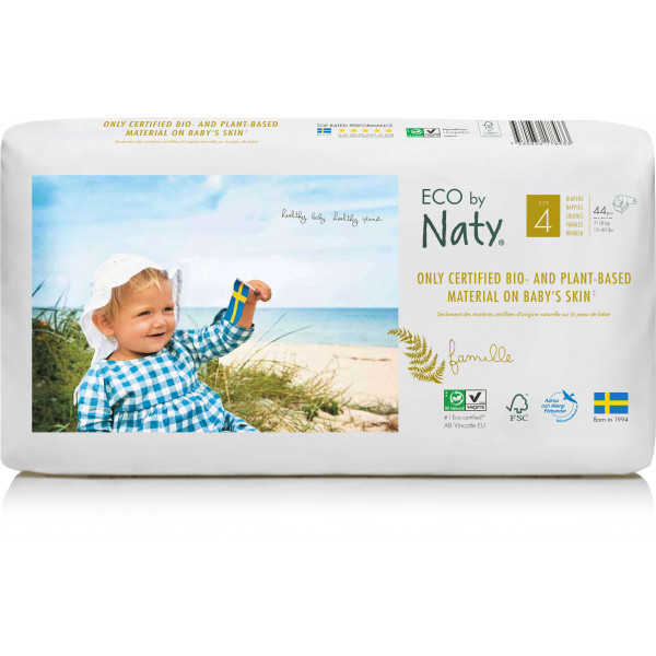 Eco by Naty® Size 4 Eco Nappies For Babies 7-18 K...