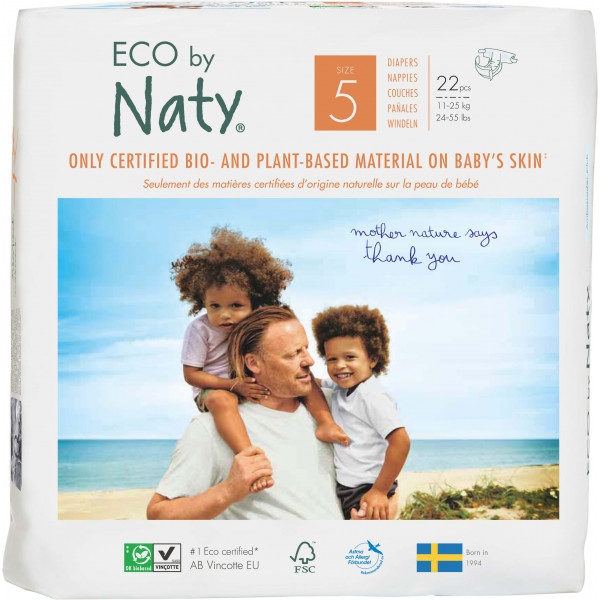 Eco by Naty® Size 5 Eco Nappies For Babies 11-25 ...