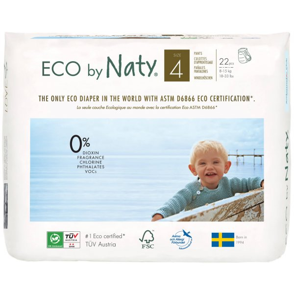 Naty by Nature Babycare Size 4 Eco Pull On Pants, ...