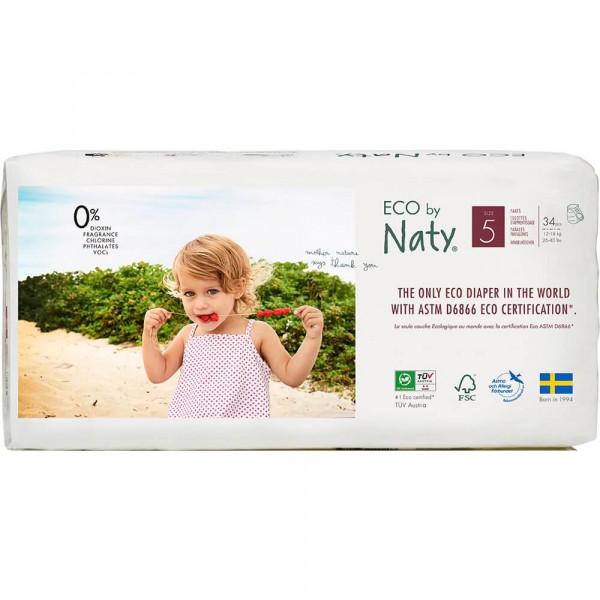 Naty Size 5 ECO Pull On Pants, 12-18 kg, economy p...