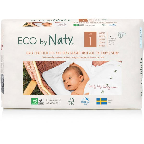 Naty® Size 1 Eco Nappies For Babies 2-5 Kg
