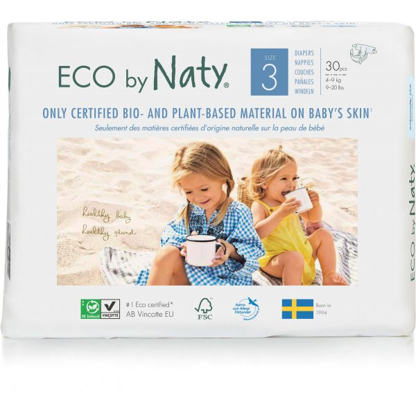 Naty® Size 3 Eco Nappies For Babies 4-9 Kg