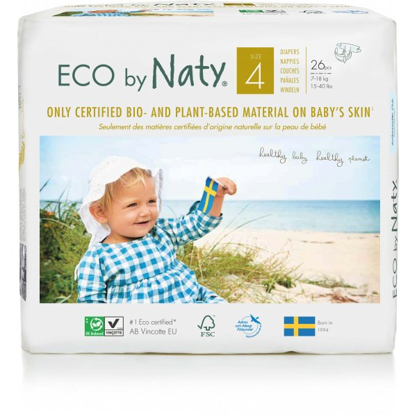 Naty® Size 4 Eco Nappies For Babies 7-18 Kg