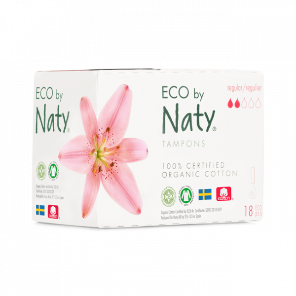 Naty Organic Cotton Normal Tampon, 18 pcs