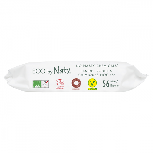 Naty lightly scented sensitive wipes, 56 pcs