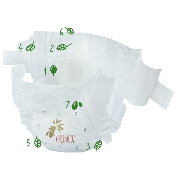 Naty® Size 4 Eco Nappies For Babies 7-18 Kg Economy Pack 44 Pcs